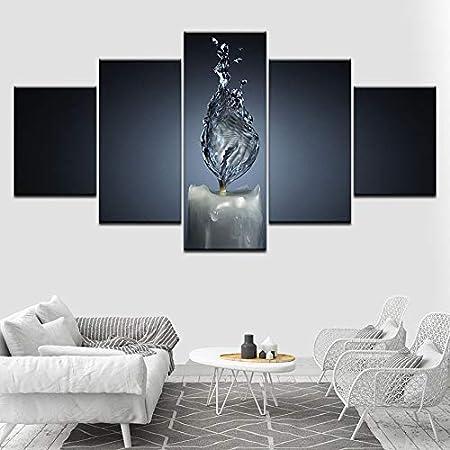 Decorazioni Camere Da Letto Moderne.Tong99 Set Di 5 Pannelli Moderni Con Tela Artistica Astratto