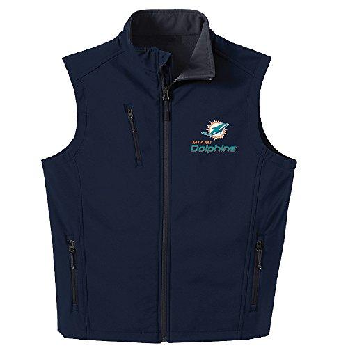 Dunbrooke Apparel NFL Miami Dolphins Mens Archer Vest, Navy, Small