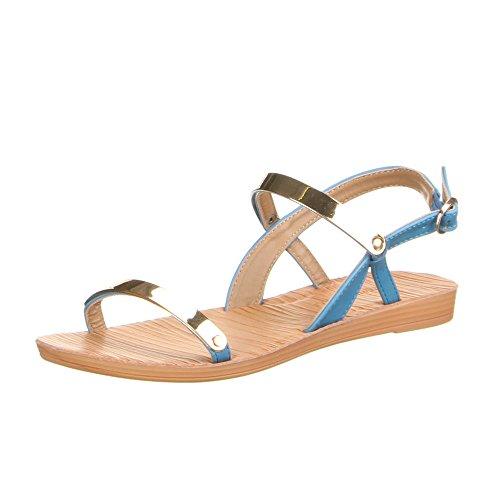 Damen Schuhe, JK-3, Sandalen Hellblau