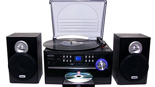 Jensen All-In-One Hi-Fi Stereo CD Player Turntable