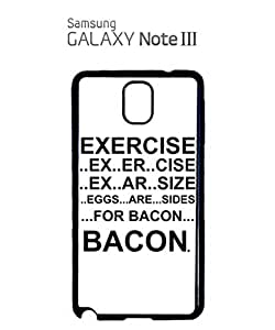 Eggs are Sides for Bacon Mobile Cell Phone Case Samsung Note 3 White