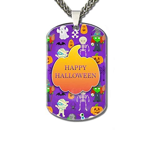 PANQJN Pet Id Tags - Cartoon Halloween Personalized Dog Tags & Cat Tags. ()