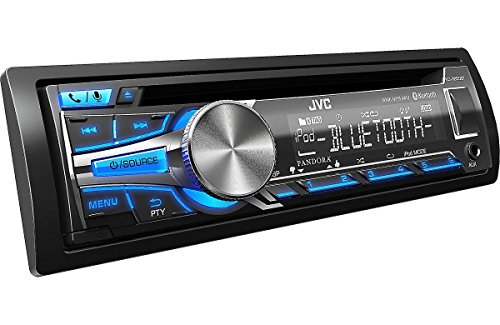 JVC CD Receiver KD-SR80BT: Bluetooth, iHeart Radio, Pandora, made for iPod, iPhone -