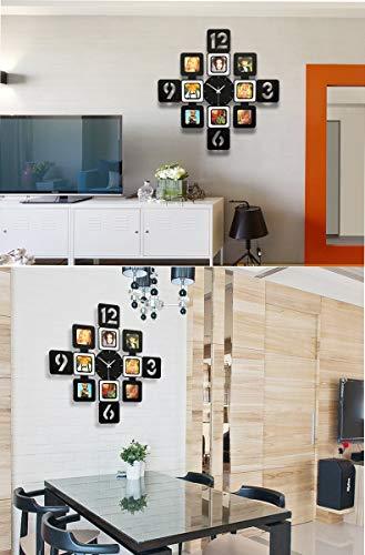 YXMxxm DIY Frame Clock,Modern Design DIY Photo Frame Clock High Density Board Art Pictures Clock - Make Your Own Multi-Photo Clock by YXMxxm (Image #1)