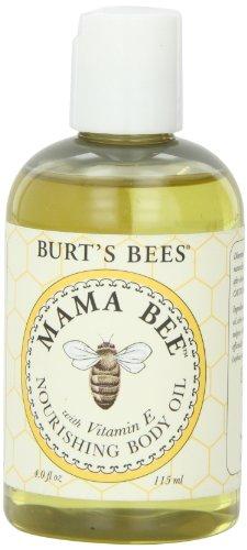 Les abeilles de Burt Body Oil Mama Bee Nourrissant avec vitamine-E, 4 Fluid Ounce