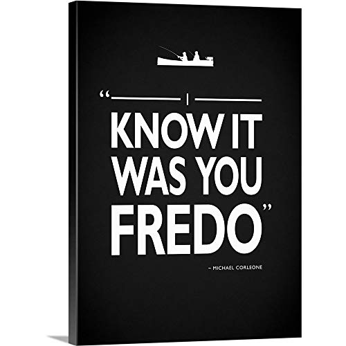 "Mark Rogan Premium Thick-Wrap Canvas Wall Art Print Entitled Godfather It was You Fredo 12""x16"""