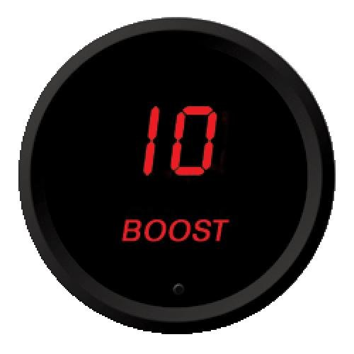 Intellitronix LED Digital Boost Gauge in Black Bezel (Red) by Intellitronix Corp.