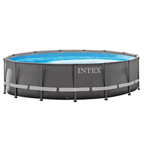 Intex 14ft X 42in Ultra Frame Pool Set with Filter Pump, Ladder, Ground Cloth & Pool Cover - Elite Pool Covers