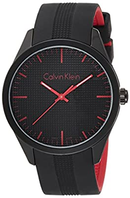 Calvin Klein K5E51TB1 Color Black Silicone Strap Watch