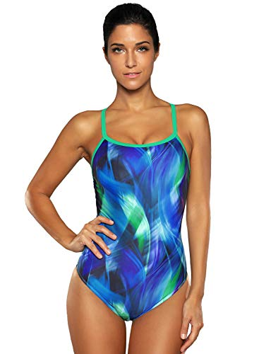 6fba227ccd5bd V FOR CITY Women s Athletic Swimwear Racerback One Piece Sports Training Swimsuit  Conservative Bathing Suit