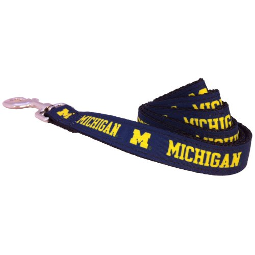 All Star Dogs NCAA Michigan Wolverines Collegiate Dog Leash, Large