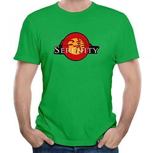 indokyeyqaz Men's Serenity Chinese Letter Retro Design Humor Graphic T-Shirt Unisex Short Sleeve Tees Green XXL]()