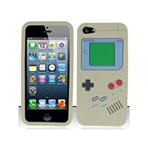OnlineBestDigital - Gameboy Style Silicone Case for Apple iPhone 5S / Apple iPhone 5 - Grey with 3 Screen Protectors and Stylus