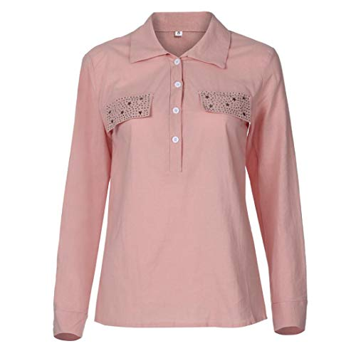 Shirts Fashion Chemisier S Pure Womens Sexy LULIKA Tee V Neck Pocket Rose Color Tops Shirt Reverse 5Xl pX5wAxwz