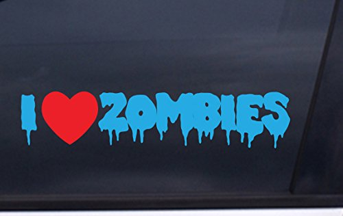 I Love ZOMBIES vinyl STICKER 1.5