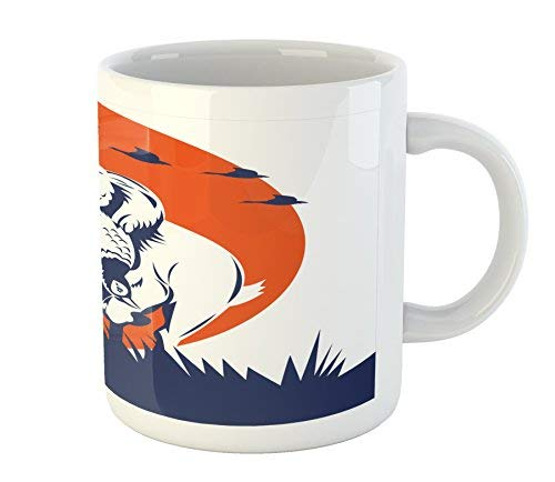 Hunting Mug Cocker Spaniel Gun Dog Retrieving the Pheasant Flying Ducks at Sunset Printed Ceramic Coffee Mug Water Tea Drinks Cup (Best Gun For Pheasant Hunting)