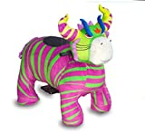 Motorized Plush Magical Cow Ride on Toy - Coin or Token Operated Electric Animal Scooter