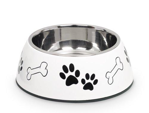 Nobby 79077-02 Hunde-Oder Katzen-napf Diva Diner, 17.5 cm, 0.5 Ltr., wei
