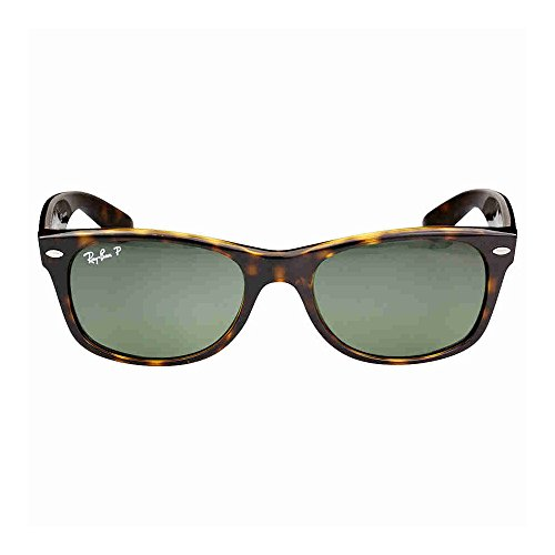 Ray Ban Wayfarer RB2132 902/58 Tortoise/Crystal Green Polarized 52mm - Ray 52mm Ban Rb2132