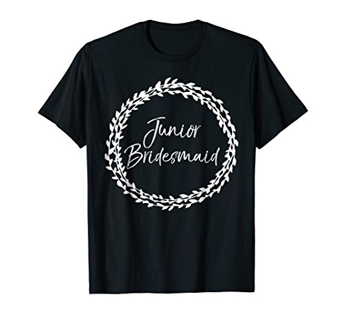Junior Bridesmaid Shirt for Girls Cute Bridal Party Gift Tee