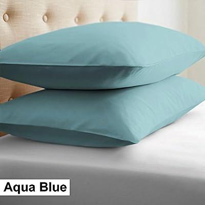 Scala 2pcs Single Color Almohada Pair 100% algodón Egipcio 400 ...