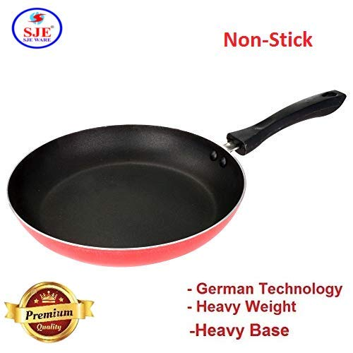 Soeppan 10 Liter Action.Sjeware Non Stick Fry Pan 1 Litre 25 4 Cm Litre Gas Compatible Red Small