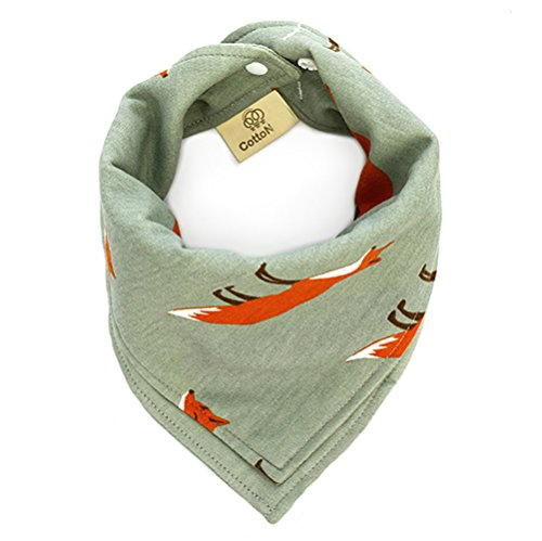 Army Bib - MMBABY Bandana Drool Bibs,Reversible 100% Organic Cotton, Unisex Gift Set for Drooling and Teething (BB0004-Army Green)