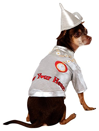 Tinman Dog Costume (Wizard of Oz Pet Costume, X-Large, Tin Man)