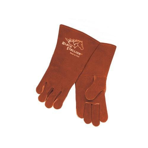Black Stallion 101A Premium Cowhide Stick Welding Gloves 16'' Length MADE IN USA, X-Large by Black Stallion