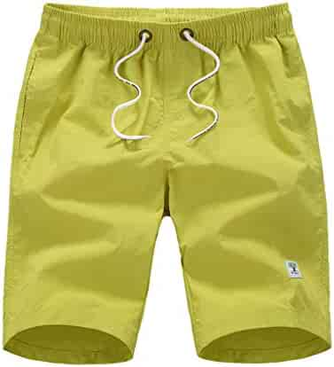 fa1ddd87d48 Stoota Men's Casual Fashion Pure Color Beach Trunks,Pocket Surfing Swimming  Loose Short Pants