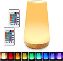 LED Night Light, TAIPOW Remote Control/Touch Table Lamp, Dimmable Bedside Lamp, Kids Baby Bedroom Lamp with Timer...