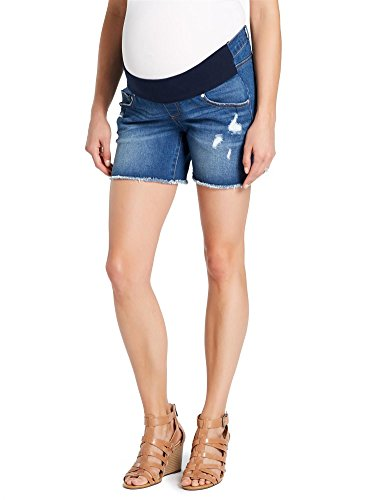 Jessica Simpson Front Panel Fray Hem Maternity Shorts