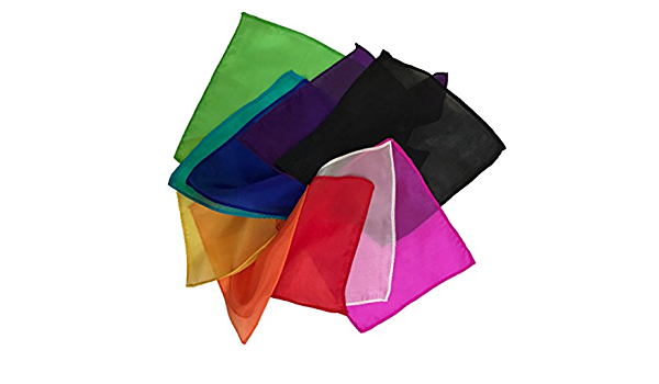 """Pack of 10 Silks Includes Trick Instructions LMW 9/"""" Assorted Colors"""