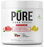 Pure BCAA Boost All Natural Vegan BCAA's+Organic Energy, Phytonutrients and Antioxidants Fuels+Revitalizes Muscle Pre-Workout or Post-Workout - Instantized for Faster Muscle Absorption and Recovery!