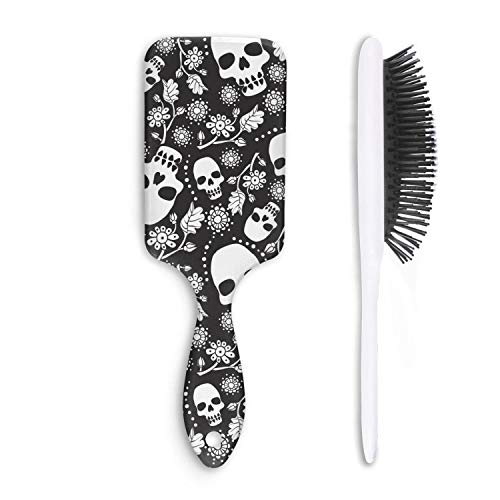 Daisy Gerbera Balloons (Cute Hair Brush skull daisy love Anti-entanglement Unisex Fashion comfortable Thick Styling Girl Head comb)