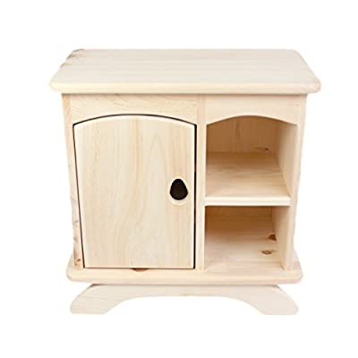 Country Cottage Cubby, Pine Wood Cabinet / Nightstand / Bookshelf