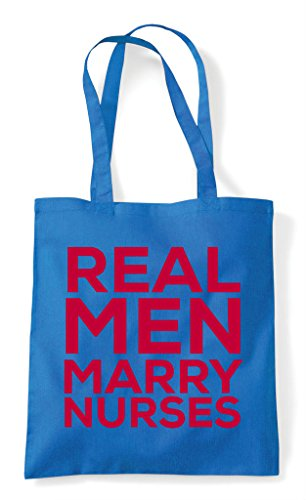 Nurses Real Marry Man Shopper Tote Bag Sapphire EqqAOC