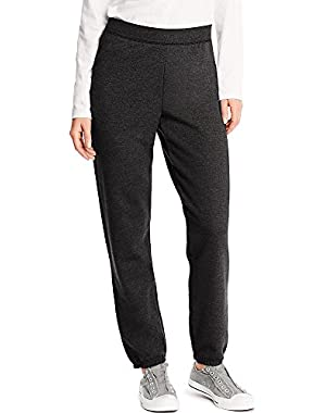 Hanes ComfortSoft EcoSmart Women's Cinch Bottom Leg Sweatpant_Ebony_2XL