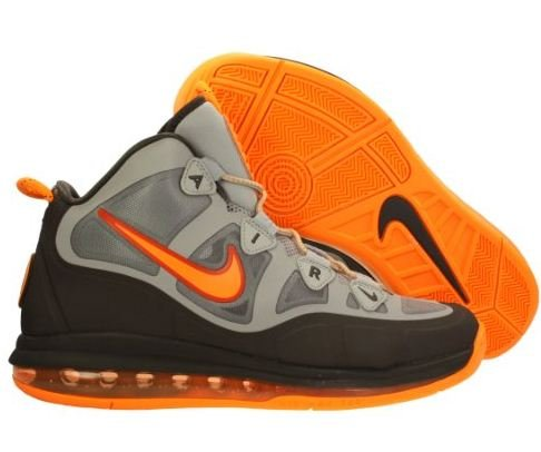 (Nike Air Max Uptempo Fuse 360 Mens Basketball Shoes 555103-006 Stadium Grey / Bright Citrus-Night Stadium 9 M)