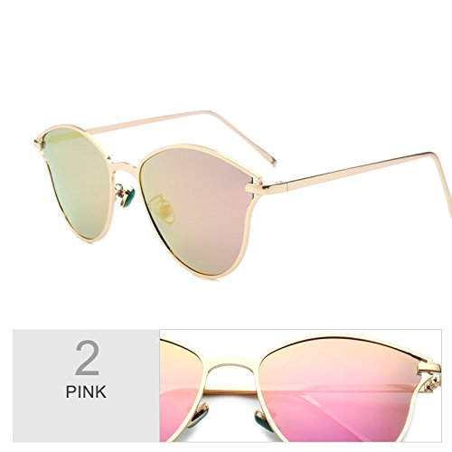 Espejo Azul Lujo La De Sol Mariposa Fría Gafas Mujer Gafas De Dibujo Sol De Gafas Polarizadas Pink De La Línea Mujer TIANLIANG04 Radiación Uv400 XvBZw8xS