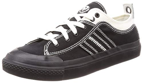Diesel Men's ASTICO LOWLACE Sneaker, Black/Star White, 10 M US
