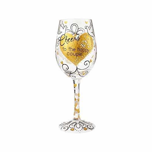 Lolita Wedding Wine Glass with Bottle Opener Cheers to the Happy Couple