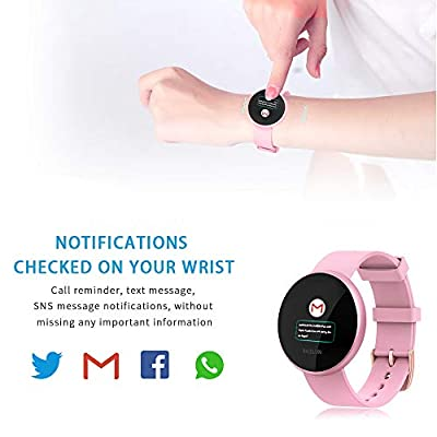 BOZLUN Smart Watch for Android Phones and iPhones, Waterproof Smartwatch Activity Fitness Tracker with Heart Rate Monitor Sleep Tracker Step Counter for Women and Men