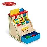 Melissa & Doug Spin & Swipe Wooden Cash Register (Developmental Toy)