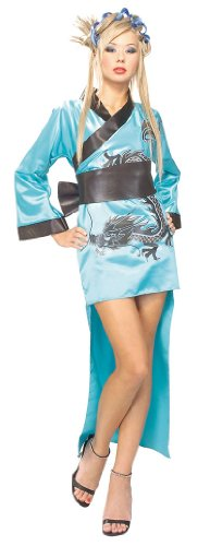 [Blue Dragon Lady Adult Costume] (Sexy Geisha Costumes)
