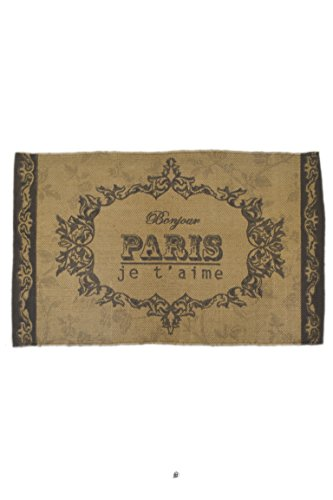 American Chateau French Bonjour Paris Je t'aime Brown/Beige Cotton 32