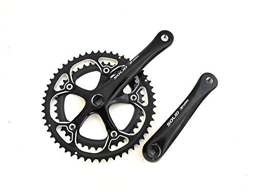 (lundeng Haomeng PROWHEEL Road Folding Bike Aluminum Alloy Square Hole Sprocket Wheel 7/8 Speed 16-Speed Crank 52-42T Tooth Plate )