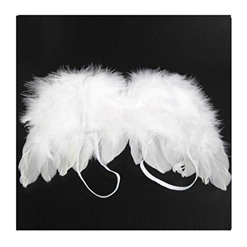 Efaster Hot Newborn Infant Baby Cute Angel Feather Wings Photo Photography Props (White) (Angel Props Photography Wings)