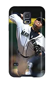 DanRobertse Premium Protective Hard Case For Galaxy S5- Nice Design - Seattle Mariners