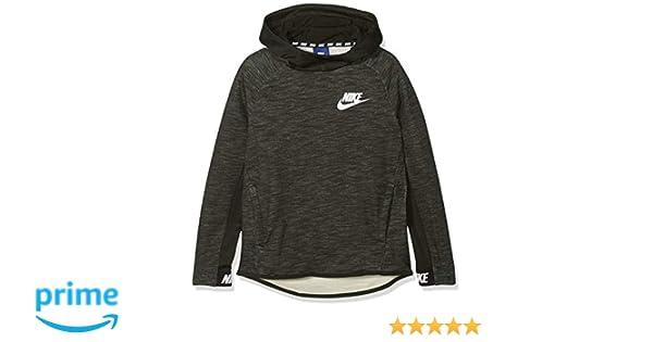 Nike B NSW Hoodie PO AV15 SSNL Sudadera, Niños, Gris (Sequoia/White), XS: Amazon.es: Deportes y aire libre